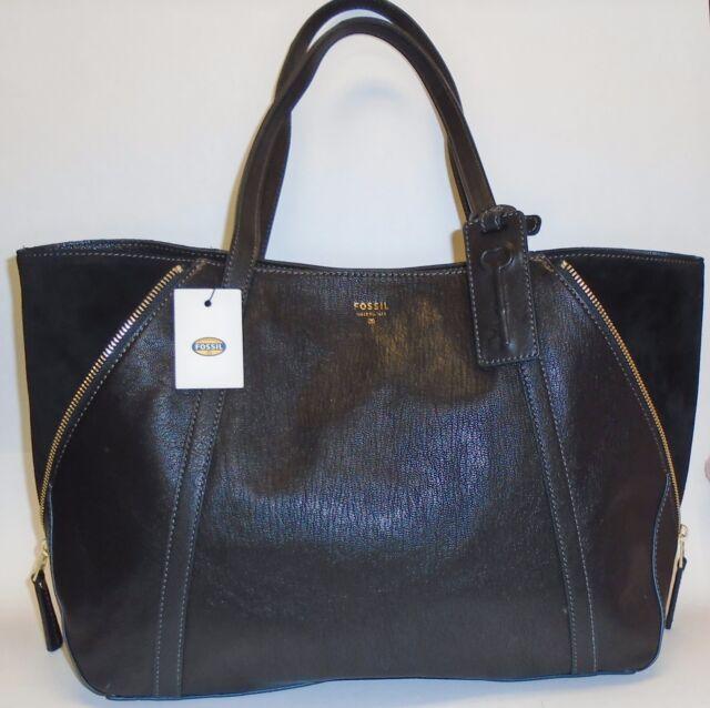 a5c3a034c3 Fossil Gwen SHOPPER Bag Tote Black Leather Shb1286601 Womens