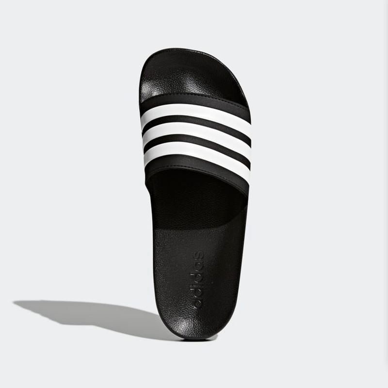 d3719022c ... New Adidas Mens ADILETTE SHOWER SHOWER SHOWER AQ1701 BLACK  WHITE Cloud  Foam US M 6 ...