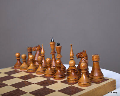 50-60 s vintage  full set wooden wood  chess antiques russian USSR rare