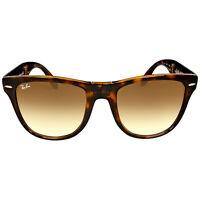 Ray-ban Wayfarer Tortoise Frame Folding Sunglasses Rb4105-710/51-54 on sale