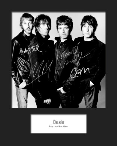 FREE DELIVERY OASIS #2 10x8 SIGNED Mounted Photo Print