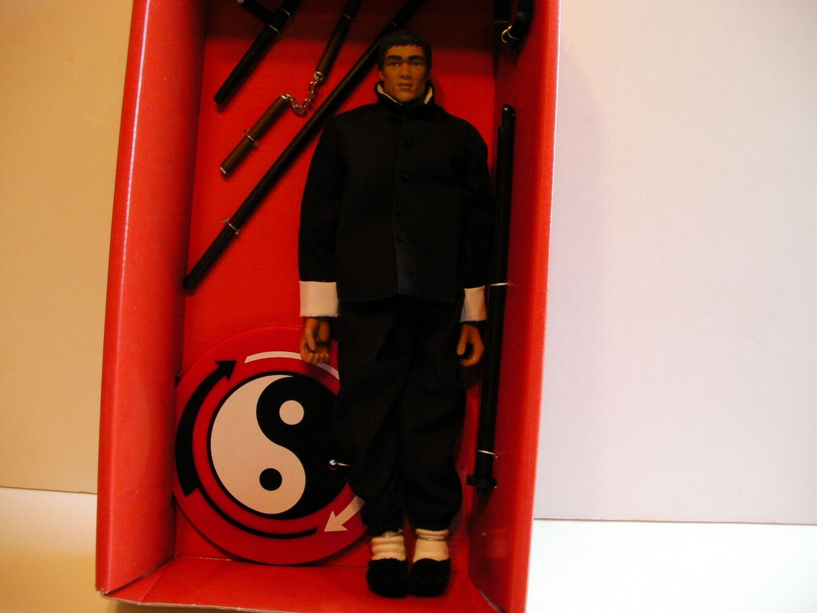 Bruce Lee 1999 Creation Entertainment 12  Figure NEW BLK BLK BLK GI (FREE SHIP GIFT) 135fda