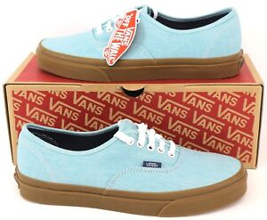 028ad28875 Vans Authentic Men s Washed Canvas Low Top Canvas Pump Trainers Blue ...