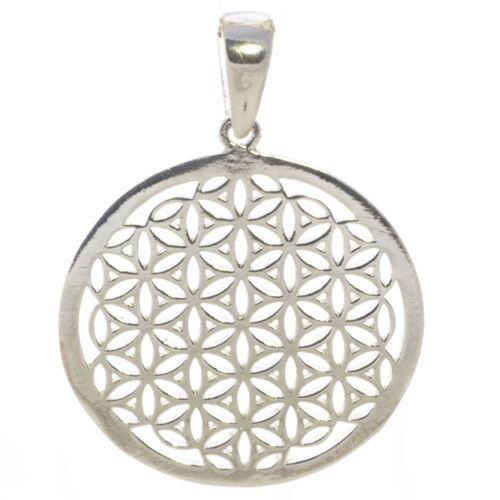 925 plata colgante flor de la vida 3 cm vida flor esotéricas bella Carina f266