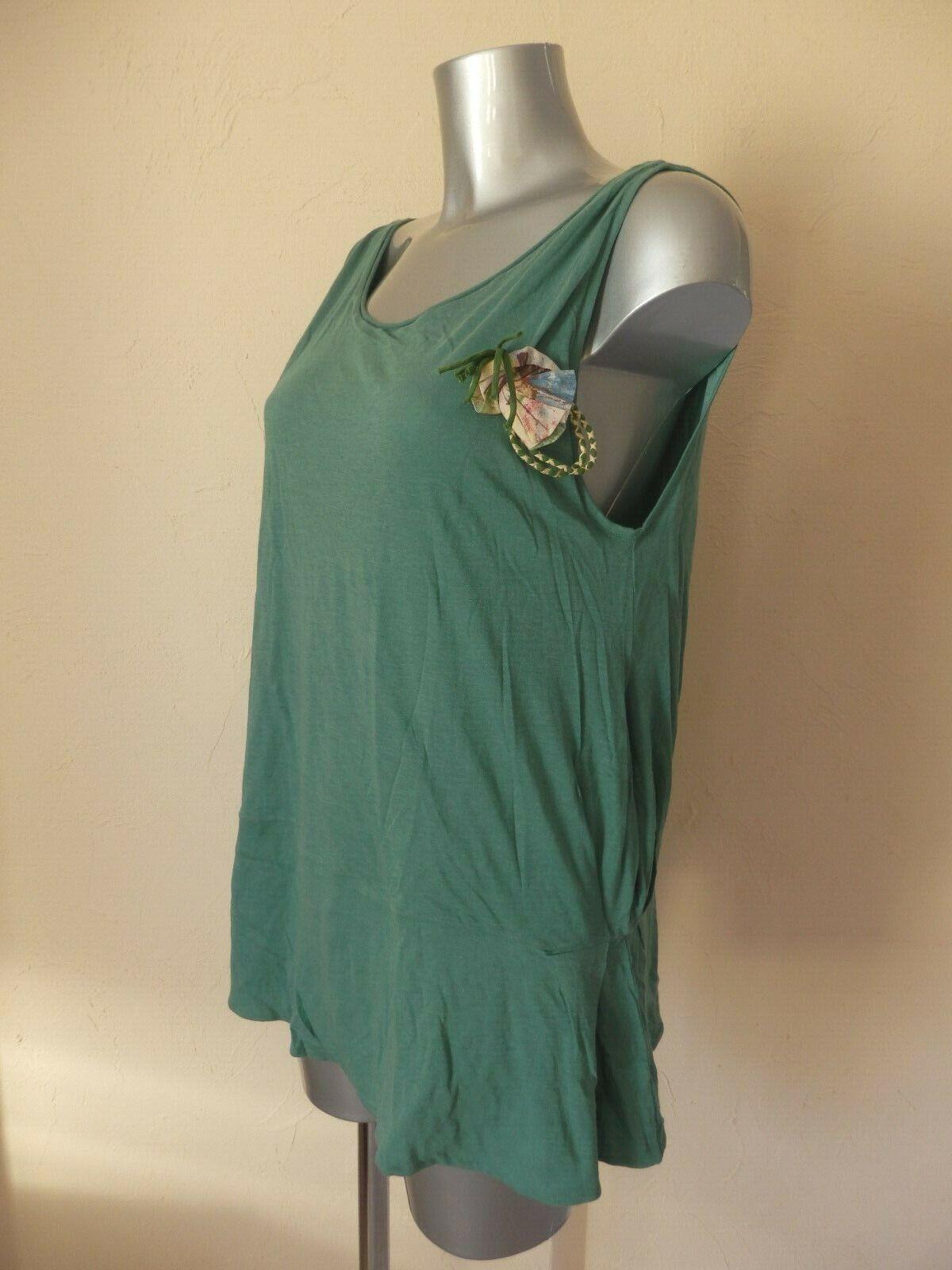 MARNI - Tee-Shirt - Tunique - coton green - size 42it soit 38 40fr