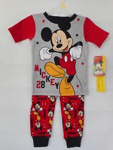 Disney-Mickey-Mouse-Pajama-Set-Toddler-Boys-Various-Sizes-NWT