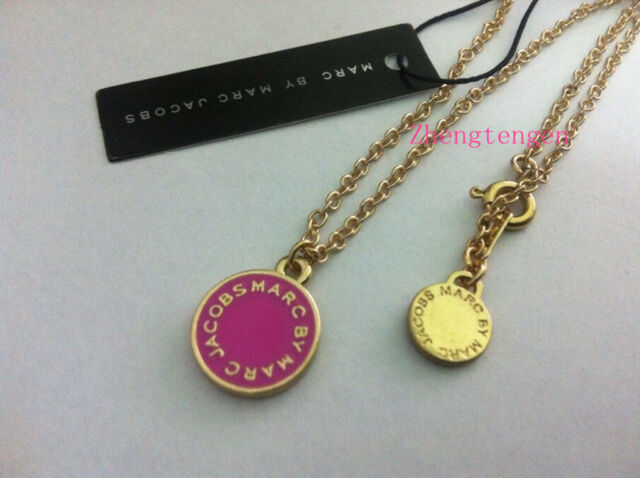 Hot sale Marc by Marc Jacobs 4 colors Letters Disc Necklace #N605X