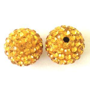 10-Topaz-Rhinestone-clay-pave-round-8mm-beads-for-Shamballa-Bracelets