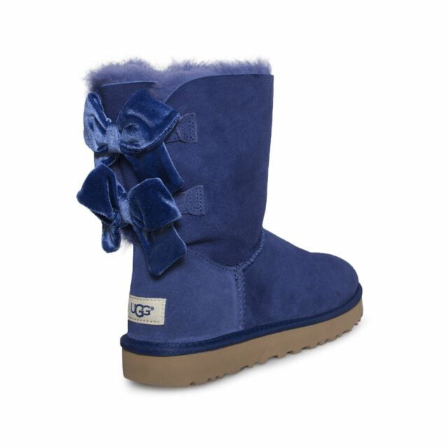 5c705770359 UGG W Bailey Bow 2 Velvet Ribbon Blue 1092973 Size US 7