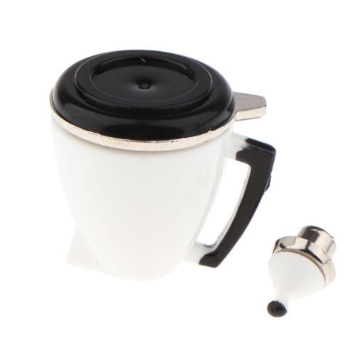 Puppenhaus Miniatur weiße Kaffeekanne Reiskocher Küchenmöbel im Maßstab