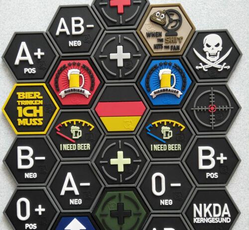 HexPatch Hexagon Patch Bierdieberot  // JTG 3D Rubber Patch JTG  BIERDIEBE