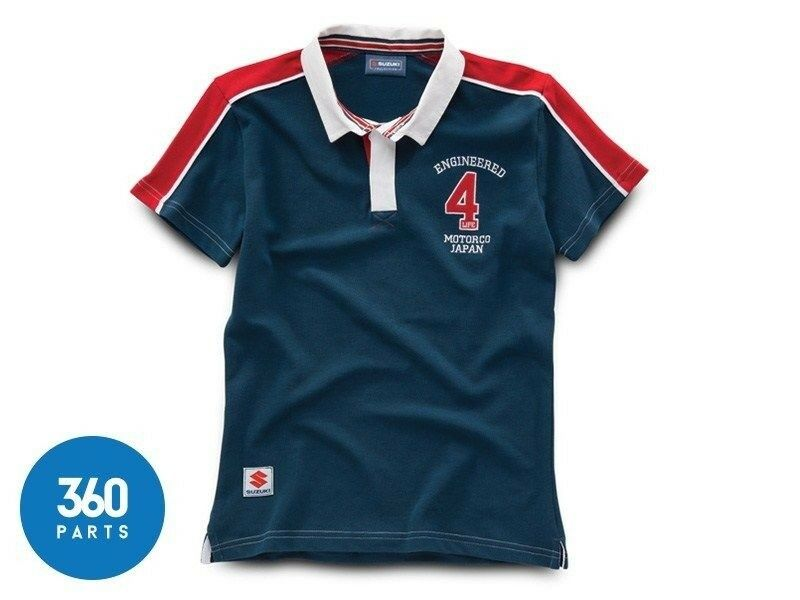 NEW GENUINE SUZUKI LADIES' RUGBY TOP  ENGINEErot FOR LIFE  CLOTHING SHIRT