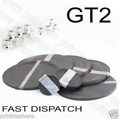 GT2 Timing 6mm Belt and Pulleys 16 or 20 Teeth 5mm Shaft Reprap 3D printer CNC