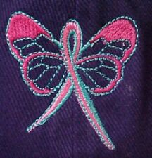 Breast Cancer Awareness Pink Teal Butterfly Purple Baseball Hat Cap Unisex New