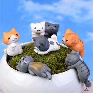6X-glueckliche-Katzen-Micro-Landschaft-Microlandschaft-Topfkultur-WerkzeugeFT