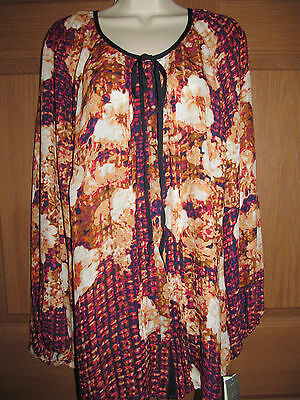 CHARTER CLUB WOMENS PLUS DRESS SHIRT FLORAL BUTTON-UP TUNIC TOP SIZE 1X NEW $69