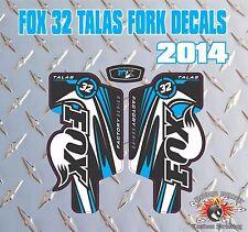 Fox 32 GABEL Talas Aufkleber Grafik Mountainbike Runter Hill MTB blau