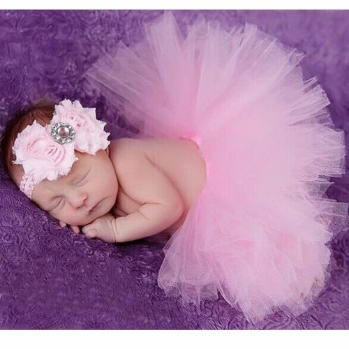 Cute Newborn Toddler Baby Girl Tutu Skirt /& Headband Photo Prop Costume Outfit