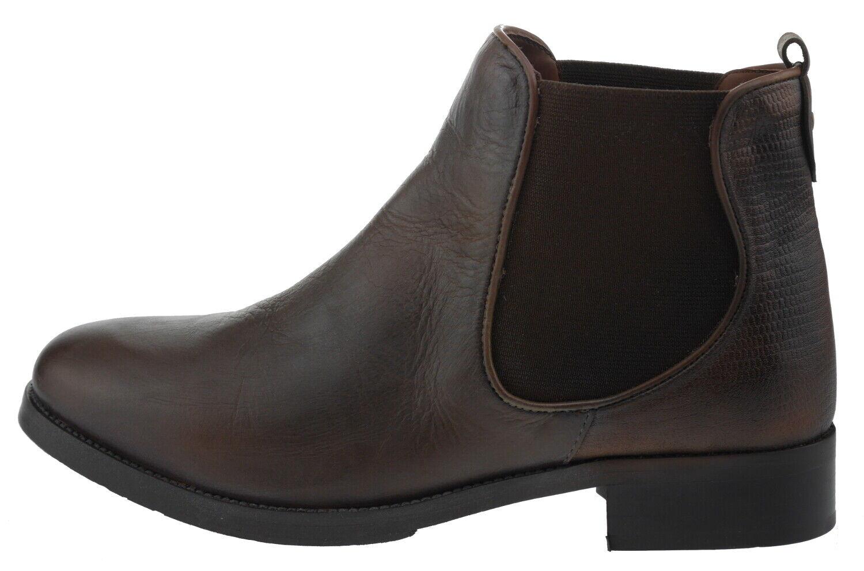 Manoukian Margaux Leder Chelsea Stiefel braun 185347