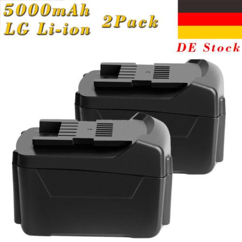 2Pcs 5.0Ah 14,4V Li-Ion Akku für Metabo 6.25467,6.25454,SSD 14.4 LT,ULA 14.4-18