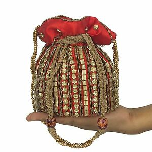 Wedding Bridal Purse Clutch Pouch Indian Traditional Ethnic Party