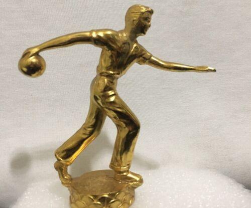 Métal Massif Trophée Bouchon Award Homme Bowling Bowler Ornement or Dodge Avec