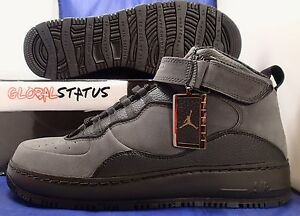 uk availability 4492c 4078e Image is loading 2010-NIKE-AJF-AIR-FORCE-JORDAN-10-BLACK-