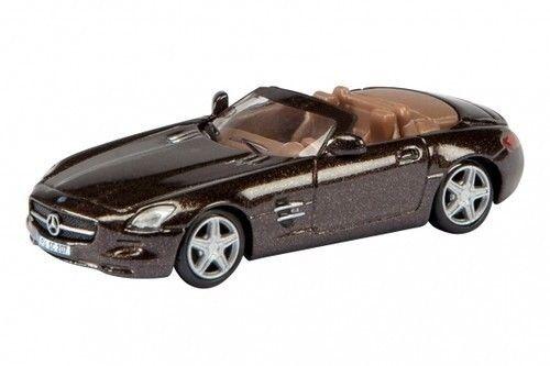 25981 Schuco 1:87 Mercedes-Benz SLS AMG Roadster braun