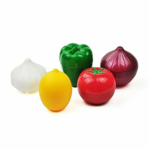 5PC Onion Sealed Box Fruit Vegetable Tomato Crisper Fresh Saver Bowl Keeper Set