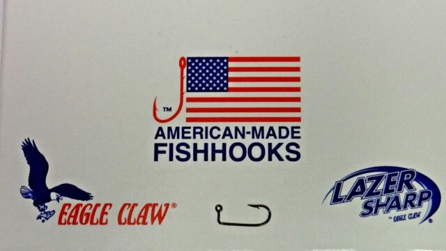 1000-2//0 Eagle Claw 570 Bronze Jig Hooks for Molds