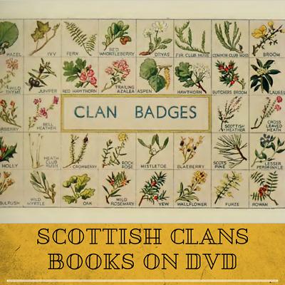 Scottish Genealogy Local History 200 Vintage Antique Old Books on 2 DVDs