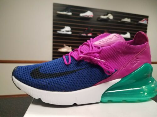 Brand New in Box Nike Men/'s Air Max 270 Flyknit AO1023-401 Royal Blue Fuschia