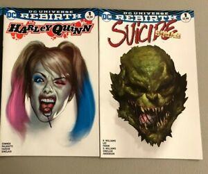 DC-REBIRTH-FORBIDDEN-PLANET-SET-Harley-Quinn-Suicide-Squad-DC-Comics-1st-PRINT