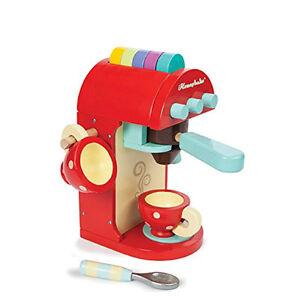 "Le Toy Van  TV299 Kaffeemaschine ""Cafe Machine"" Espressomaschi<wbr/>ne Holz NEU! #"