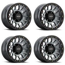 """Set 4 20"""" Vision 111 Nemesis Gunmetal Wheels 20x9 6x135mm 18mm Ford F150 6 Lug"""