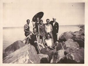 FOTO AL MARE GRUPPO DI AMICI IN COSTUME DA BAGNO - ANNI \'20 - C10 ...