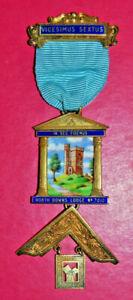 Past Master's Jewel North Downs Lodge No 7010 London sterling silver hallmark