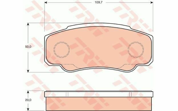 4x TRW Plaquettes de frein Arrière GDB3441 - Pièces Auto Mister Auto