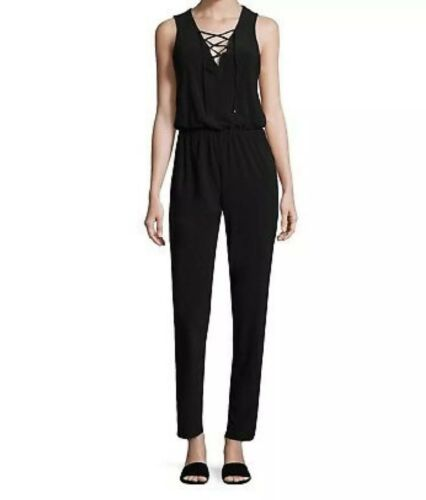 Laundry by Design Women's Petite Lace up Jumpsuit