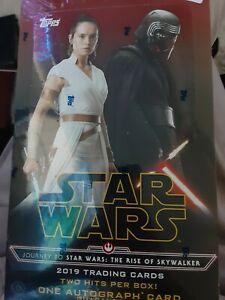 Journey To Star Wars The Rise Of Skywalker Hobby Box Topps 2019 Sealed New Ebay