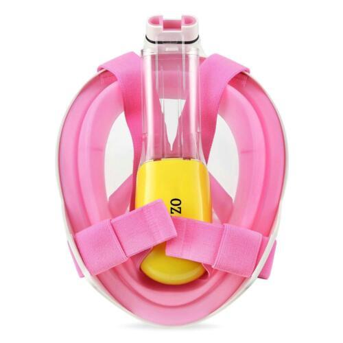 Full Face Snorkel Mask Anti-Fog Anti-Leak 180° View Dry Top