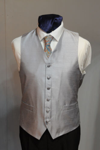 SUIT 1025 MENS//BOYS  SILVER WAISTCOAT FORMAL PARTY W