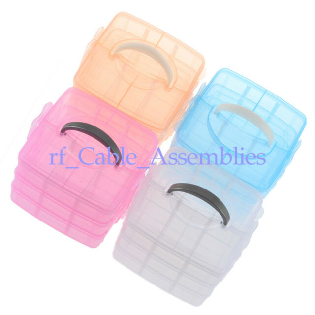High Quality 4 Color 18 Grids Plastic Box DIY 15x15x13cm For Travel Medicine