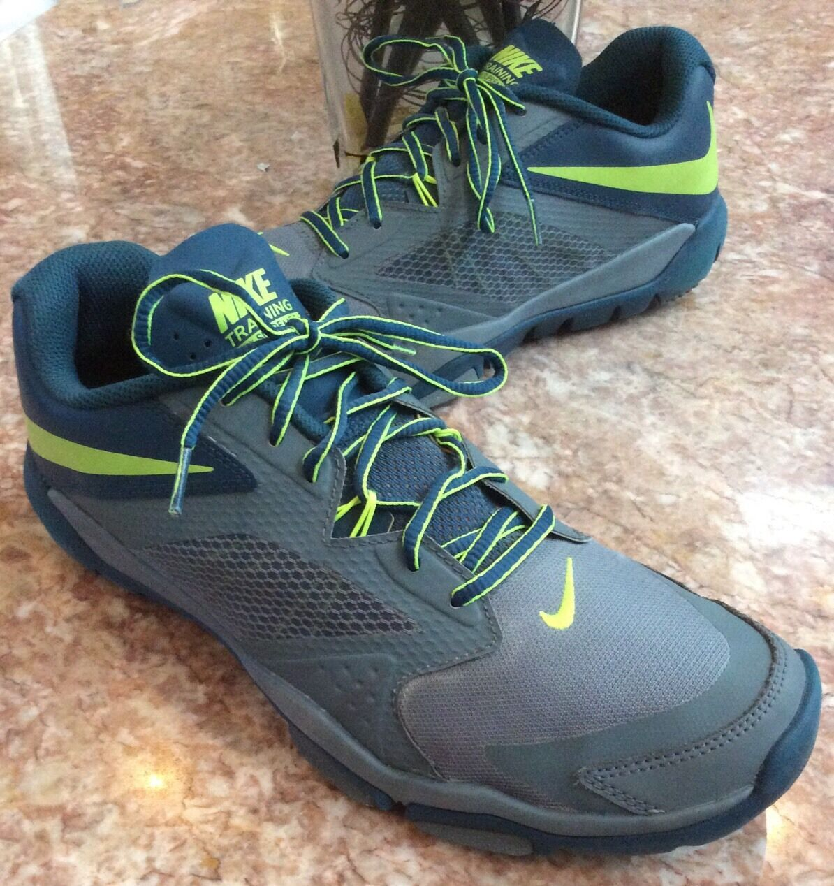 Special limited time NIKE Flex Supreme Training 3 Gray/Blue/Volt-Green Shoes Comfortable