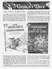 GRIDLEY WAVE #6 - 1962 Edgar Rice Burroughs fanzine - The Moon Maid review