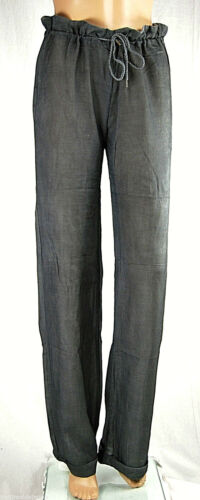 Pantaloni Donna Misto Seta MET Loose Fit Made in Italy Trousers C338 Tg 26 28