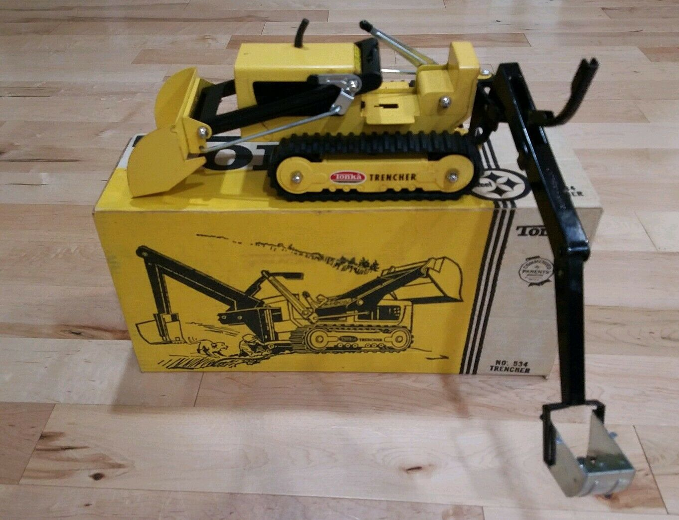 TONKA VINTAGE TOY TRENCHER 1960s PRESSED STEEL No. 534 With BOX GOOD WORKING CON
