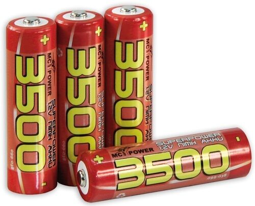 4 X Mignon Aa High Power Batterie Rechargeable 1,2 V 3500 MAH Nimh Pile Durable