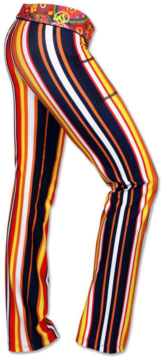 INKnBURN Groovy Performance Pants Stretch Workout Athletic Womens sz 10 SOLD OUT