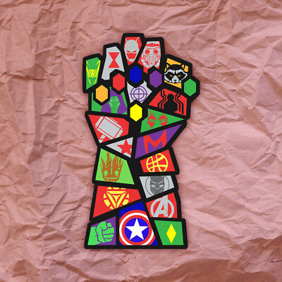 Avengers Infinity War Saul Bass Infinity Gauntlet Sticker Decal Thanos Marvel